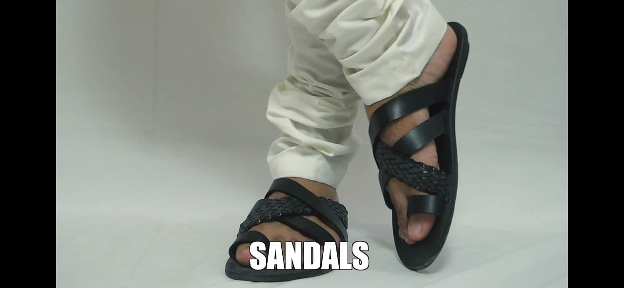 Criss-Cross Leather Sandals