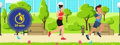 benefits of jogging for 20 minutes